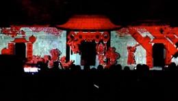 中国美术学院民艺馆牌楼广场传统建筑投影秀《荧光幻影》