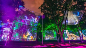 2019/09数字媒体项目-无锡梅园灯光节3D沉浸式全息投影