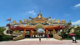 中国人自创主题公园-淮安西游乐园水幕激光秀