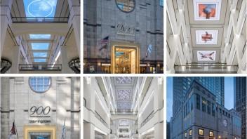 芝加哥壮丽大道上900家北密歇根商店-天幕屏