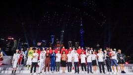 安踏北京2022年冬奥会特许商品国旗款运动服装发布会| 无人机表演&视觉制作