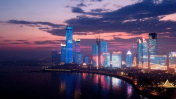 青岛海天启幕——全国面积最大单体建筑灯光秀来了