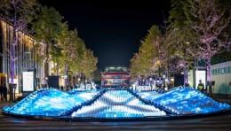 上汽大众:《造浪型动》灯光互动装置
