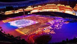 第十四届全运会开幕式文体展演人文底蕴浸润舞台