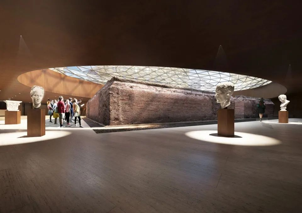 """那不勒斯地铁""""大教堂站"""",地下空间灯光变化的极致魅力!"""